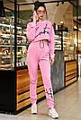 Спортивный костюм женский розовый, двунитка, фото 2