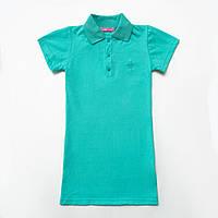 Платье-поло для девочки р.128,134,140,146,152,158 SmileTme Classic, мятный, фото 1