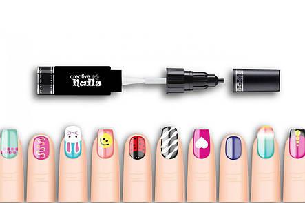 Детский лак-карандаш для ногтей Creative Nails на водной основе (2 цвета Белый + Розовый), фото 2