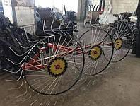 Грабли ворошилки Солнышко на 3 колеса (спица 6 мм) для мотоблока и мототрактора (1Т)