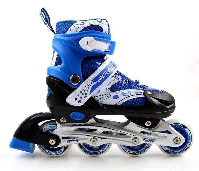 Роликовые коньки раздвижные Super Power размер 38-41 Синие