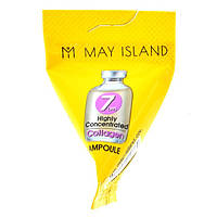 Сыворотка для лица May Island 7 Days Highly Concentrated Collagen Ampoule. С коллагеном