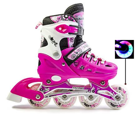 Ролики Scale Sports раздвижные  Pink размер 38-41, фото 2