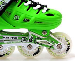 Ролики Scale Sports раздвижные  Green размер 34-37, фото 2