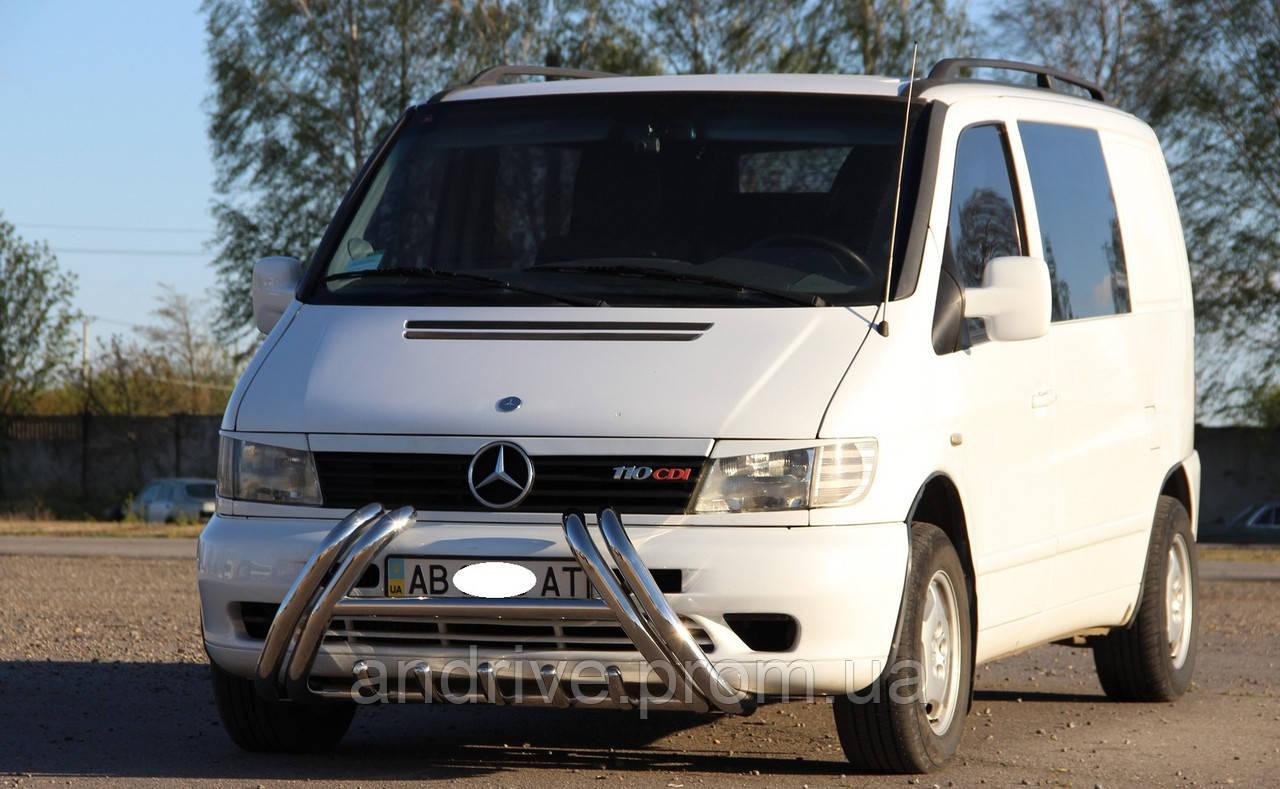 Кенгурятник (защита переднего бампера) Mercedes Vito W638 1996-2003