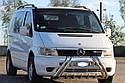 Кенгурятник (защита переднего бампера) Mercedes Vito W638 1996-2003, фото 3