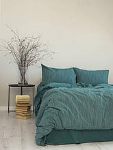 Комплект постельного белья из вареного хлопка размер 200*220 LIMASSO MOZAIK GREEN