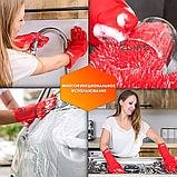 Перчатки силиконовые многофункциональные уборка, чистка, мытье посуды, ухваты 2Life Красный (n-529), фото 2