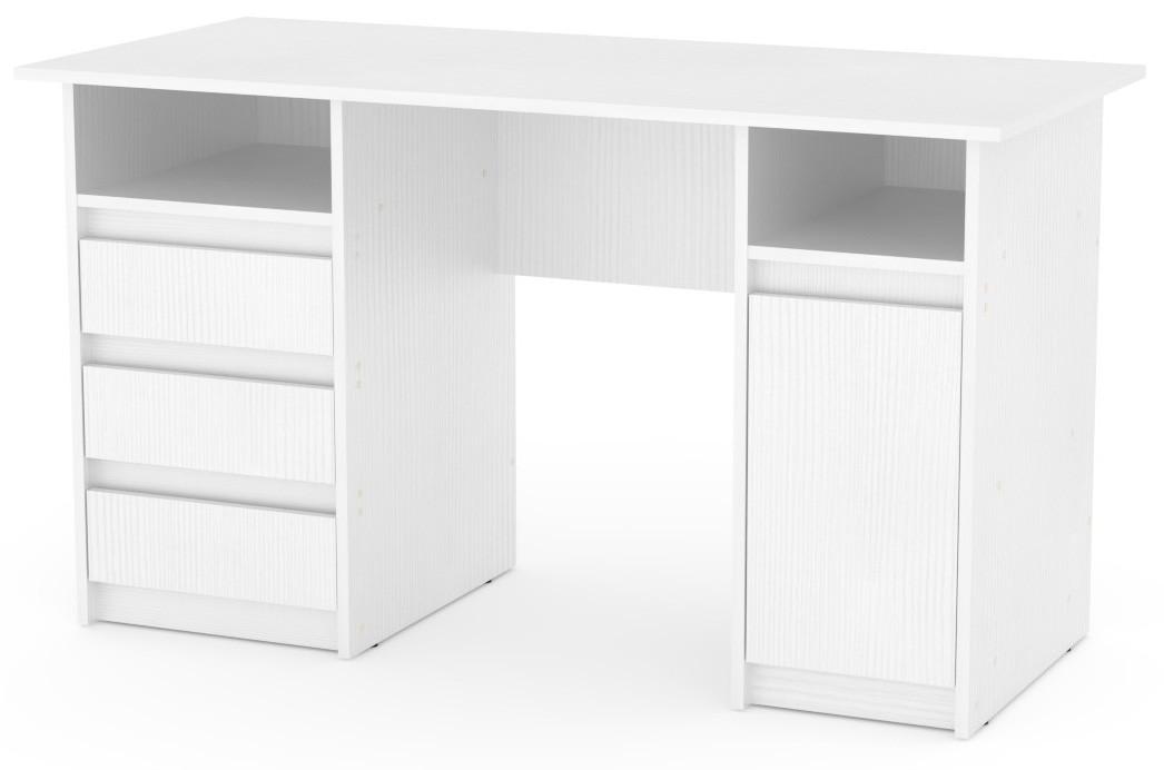 Стол письменный Декан-2 белый КОМПАНИТ (130х60х73.6 см), фото 1