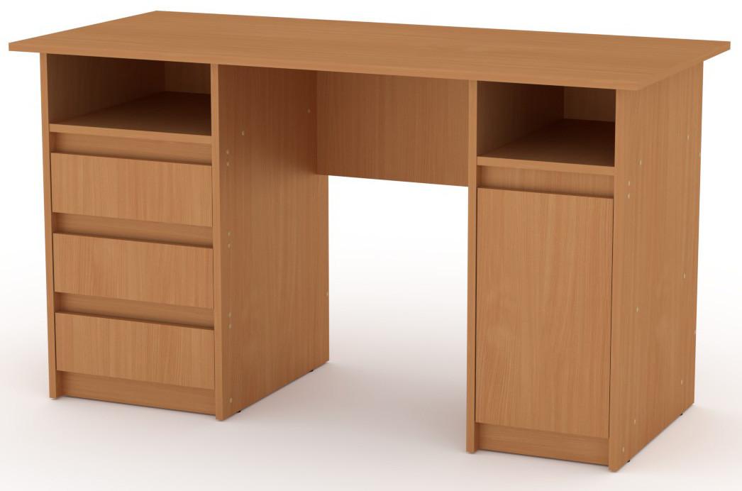 Стол письменный Декан-2 белый КОМПАНИТ (130х60х73.6 см), фото 3