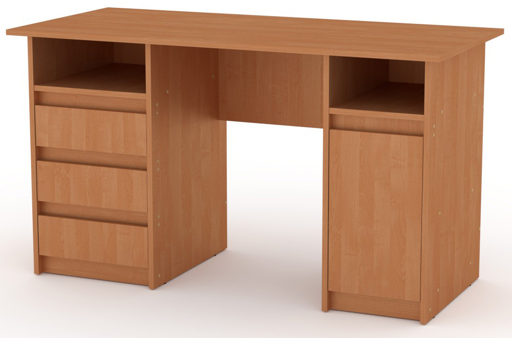 Стол письменный Декан-2 белый КОМПАНИТ (130х60х73.6 см), фото 5