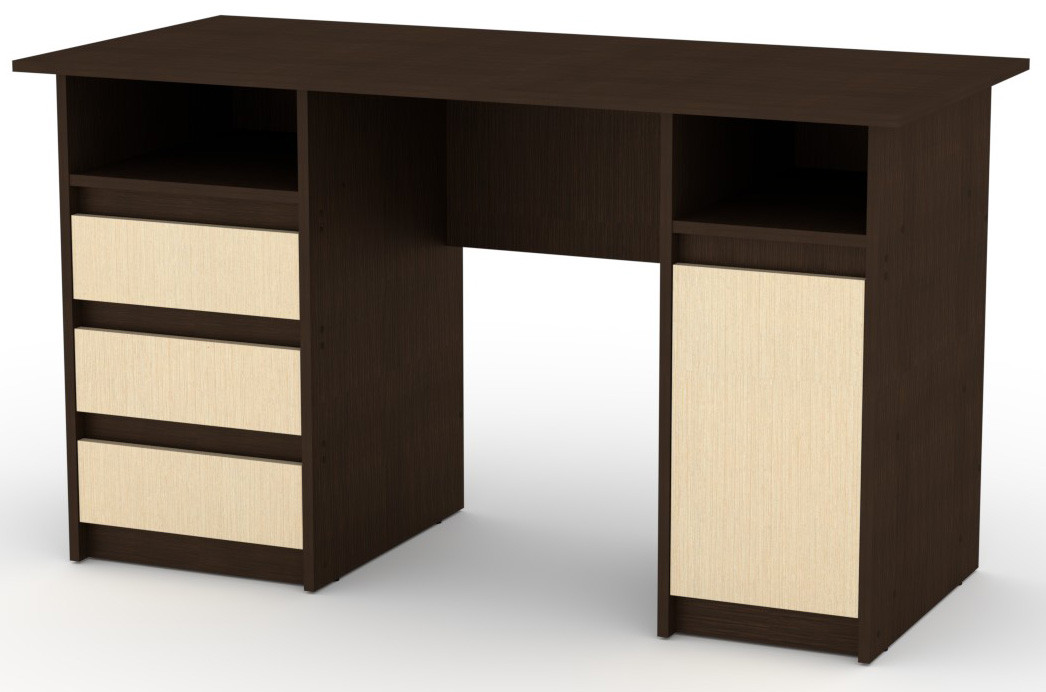 Стол письменный Декан-2 белый КОМПАНИТ (130х60х73.6 см), фото 9