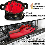 Перчатки силиконовые многофункциональные уборка, чистка, мытье посуды, ухваты VOLRO Красный (vol-529), фото 3