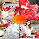 Перчатки силиконовые многофункциональные уборка, чистка, мытье посуды, ухваты VOLRO Красный (vol-529), фото 4