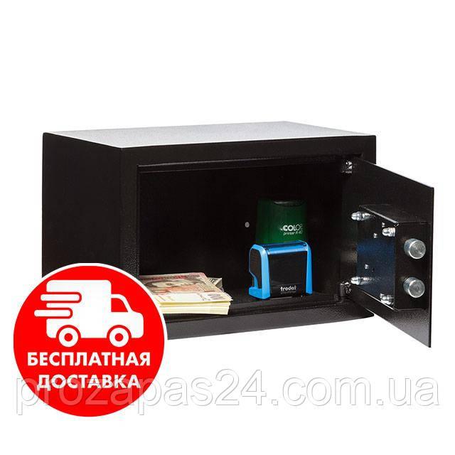 Сейф мебельный черный 20К для дома офиса ВхШхГ 20х31х20см