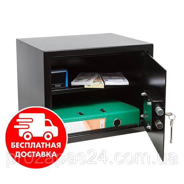 Сейф мебельный черный 30К для дома офиса ВхШхГ 30х38х30см