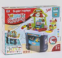 """Игровой набор """"Магазин"""" для детей, касса, звук и подсветка сканера, в коробке 61 предметов для игры."""