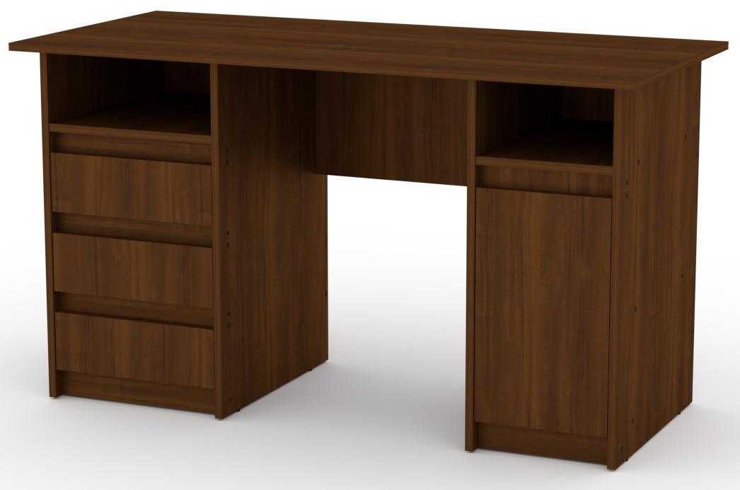 Стол письменный Декан-2 Орех экко КОМПАНИТ (130х60х73.6 см)