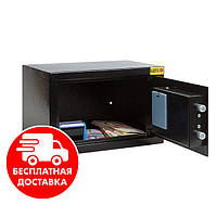 Сейф мебельный черный 20Е для дома офиса ВхШхГ 20х31х20см, фото 1