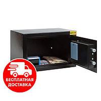 Сейф мебельный черный 20Е для дома офиса ВхШхГ 20х31х20см