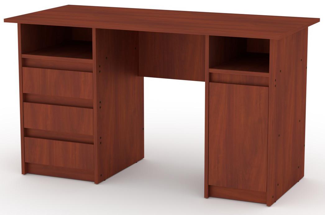 Стол письменный Декан-2 Яблоня КОМПАНИТ (130х60х73.6 см)