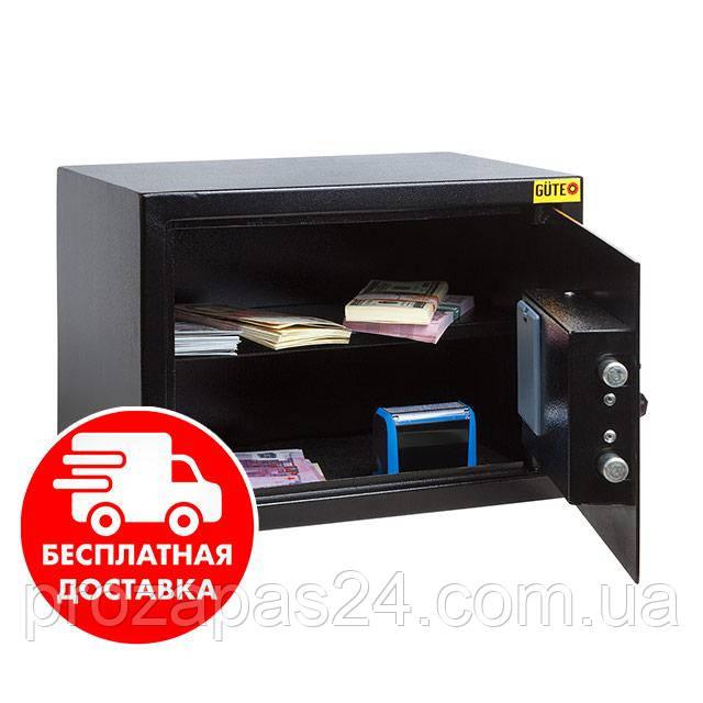 Сейф мебельный черный 25Е для дома офиса ВхШхГ 25х35х25см