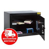 Сейф мебельный черный 25Е для дома офиса ВхШхГ 25х35х25см, фото 1