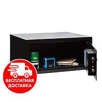 Сейф мебельный черный 35Е для дома офиса ВхШхГ 20х43х35см
