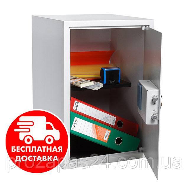 Сейф мебельный черный 56Е для дома офиса ВхШхГ 52х35х36см