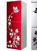 """Набор интерьерных наклеек-самоклеек """"Вьющийся цветок с бабочкой"""" белого цвета"""