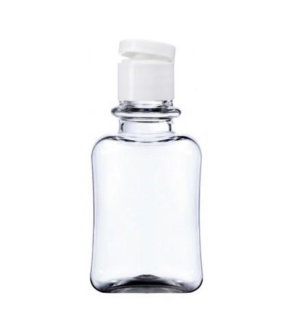 Флакон прозрачный 50 мл с белым флип-топом 18/415 (флакон, флип-топ)