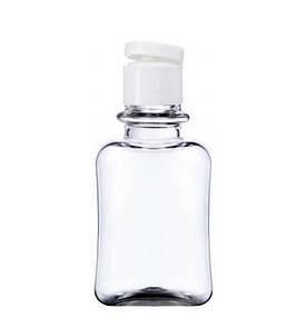 Флакон 50 мл прозрачный с флип-топом 18/415 (бутылочка, крышечка)