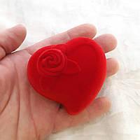 Футляр в форме сердца для упаковки ювелирных украшений и сувениров. Размер 6*6*4 см