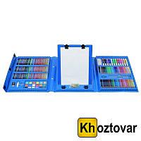 Набор для детского творчества в чемодане с мольбертом | 208 предметов