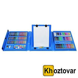 Набір для дитячої творчості у валізі з мольбертом | 208 предметів