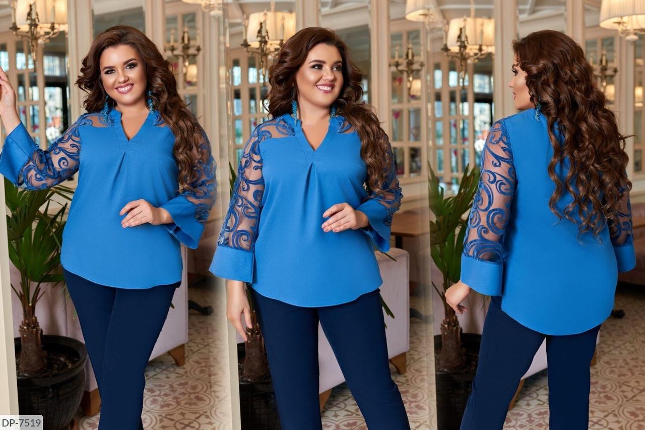 Блуза нарядная женская размеры: 50-52, 54-56, 58-60