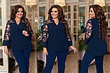 Блуза нарядная женская размеры: 50-52, 54-56, 58-60, фото 3