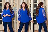Блуза нарядная женская размеры: 50-52, 54-56, 58-60, фото 5