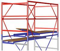 Передвижная строительная вышка-тура 2,0х2,0 м высота 3,9 м