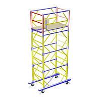 Передвижная строительная вышка-тура 2,0х2,0 м высота 5,1 м