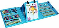 Детский художественный набор для творчества с мольбертом 176 предметов в чемоданчике уценка