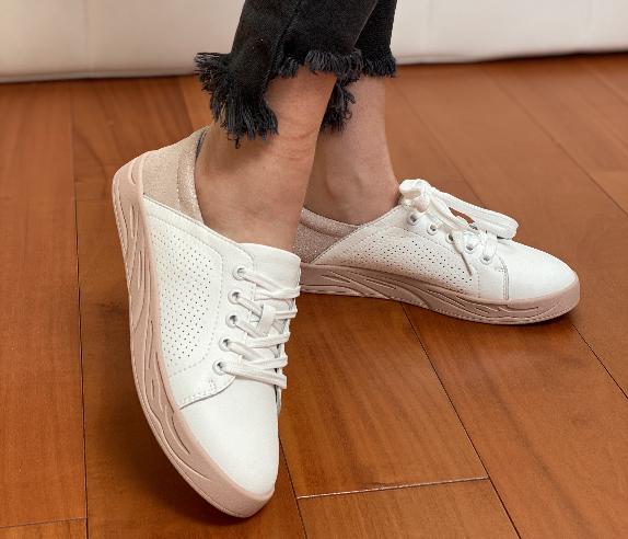 Жіночі кеди Inshoes білі з пудрою