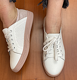 Жіночі кеди Inshoes білі з пудрою, фото 2