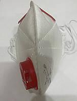 Респиратор Микрон FFP3 (третий класс защиты) с красным клапаном