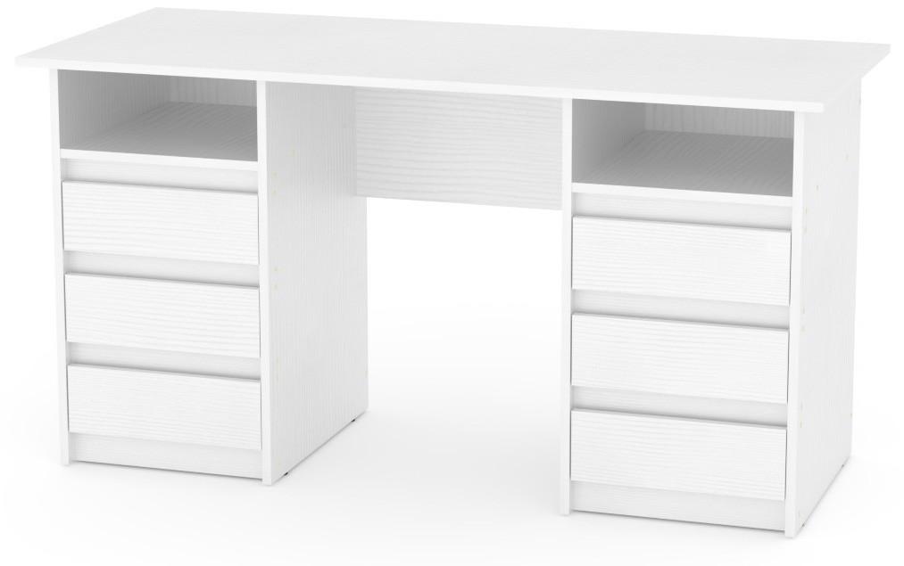 Стол письменный Декан-3 белый КОМПАНИТ (140х60х73.6 см), фото 1