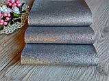 Эко кожа (кожзам) - серебро с мелким глиттером, лист 20 на 34 см. - 22 грн, фото 2