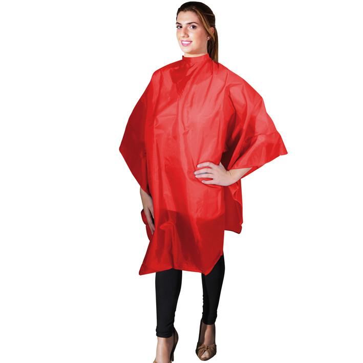Накидка для стрижки красная Eurostil 01175/60 размер 136х124см