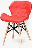 Стул Invar XXL красный 05 экокожа на буковых деревянных ножках, скандинавский стиль, дизайн Charles Eames, фото 2