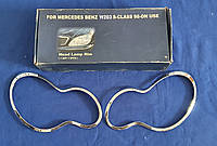 Хромированные накладки на фары Mercedes W 203, фото 1