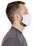 Защитная маска многоразовая для лица Природа белая 22*15 см, фото 2